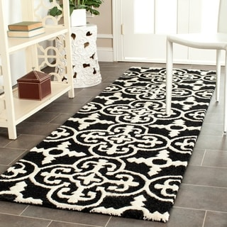 "Safavieh Handmade Cambridge Moroccan Black Wool Rug with Canvas Backing (2'6"" x 8')"