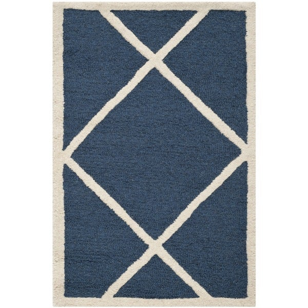 Safavieh Handmade Cambridge Moroccan Navy Wool Accent Rug ...