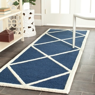 "Safavieh Handmade Cambridge Moroccan Navy Pure Wool Rug (2'6"" x 8')"