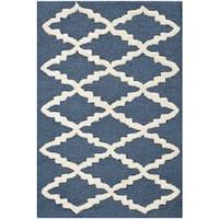 Safavieh Handmade Moroccan Cambridge Navy Wool Rug - 2' x 3'