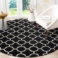 Safavieh Handmade Moroccan Black Wool Area Rug - 7' x 7' Round