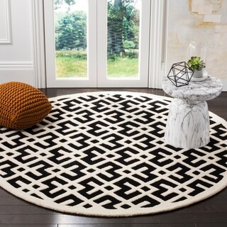 Safavieh Handmade Moroccan Chatham Black Wool Rug (6' 6 x 6' 6 Round)