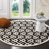Safavieh Handmade Moroccan Chatham Black Wool Rug - 6' 6 round