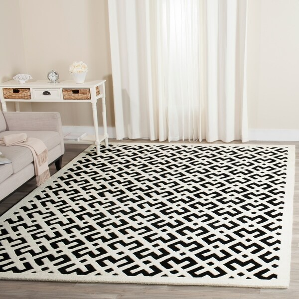 Safavieh Handmade Moroccan Black Wool Area Rug - 8' x 10'