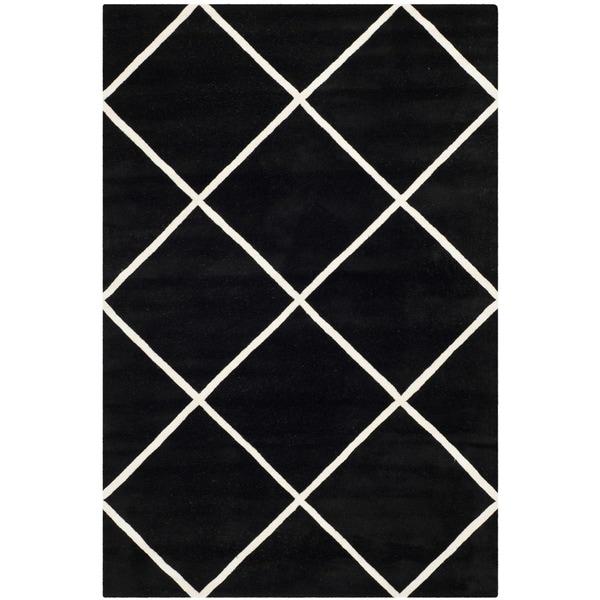 Shop Safavieh Handmade Moroccan Chatham Black Wool Area