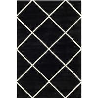 Safavieh Handmade Moroccan Chatham Black Wool Area Rug - 6' x 9'