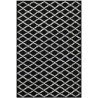Safavieh Chatham Black Handmade Moroccan Wool Area Rug - 4' x 6'