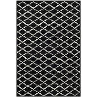 Safavieh Handmade Moroccan Black Indoor Wool Rug - 5' x 8'