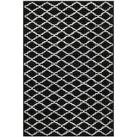 Safavieh Handmade Moroccan Black/Ivory Wool Rug - 8' x 10'
