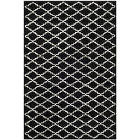 Safavieh Contemporary Handmade Moroccan Black Wool Rug - 8'9' x 12'