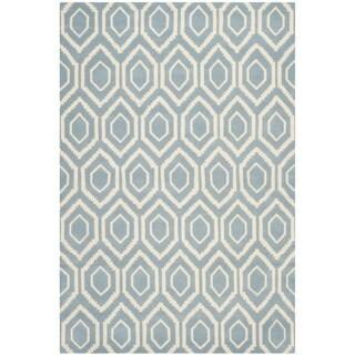Safavieh Handmade Moroccan Chatham Blue Wool Rug (10' x 14')