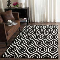 Safavieh Handmade Moroccan Black Contemporary Wool Rug - 4' x 6'