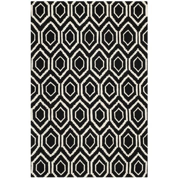 Safavieh Contemporary Handmade Moroccan Black Wool Rug - 8' x 10'