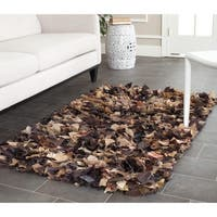 Safavieh Handmade Decorative Rio Shag Brown/ Multi Area Rug (3' x 5')