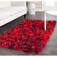 Safavieh Handmade Decorative Rio Shag Red/ Multi Area Rug - 3' x 5'