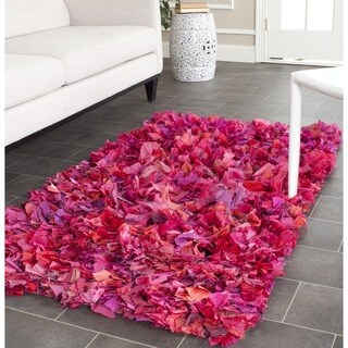 Safavieh Handmade Decorative Rio Shag Fuchsia/ Purple Area Rug (3' x 5')