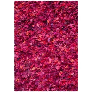 Safavieh Handmade Decorative Rio Shag Fuchsia/ Purple Area Rug (4' x 6')