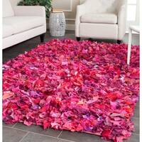 Safavieh Handmade Decorative Rio Shag Fuchsia/ Purple Area Rug - 5' x 8'