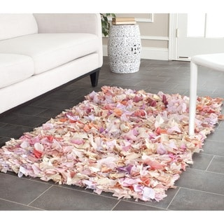 Safavieh Handmade Decorative Rio Shag Pink Runner (2'6 x 4')