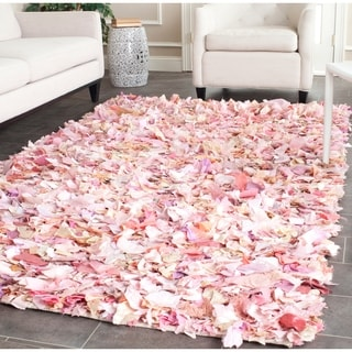 Safavieh Handmade Decorative Rio Shag Pink Area Rug (4' x 6')