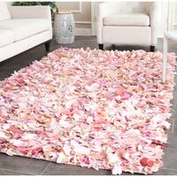 Safavieh Handmade Decorative Rio Shag Pink Area Rug - 5' x 8'