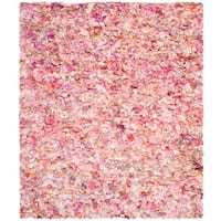 Safavieh Handmade Decorative Rio Shag Pink Area Rug - 8' x 10'
