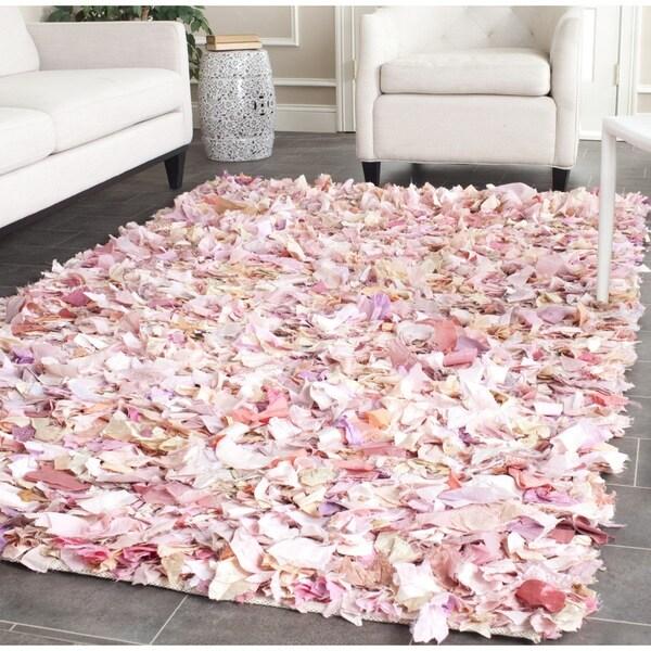 Safavieh Handmade Decorative Rio Shag Pink Area Rug (8' x 10')