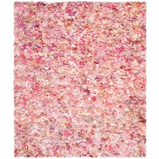 Safavieh Handmade Decorative Rio Shag Pink Area Rug (8' x 10')