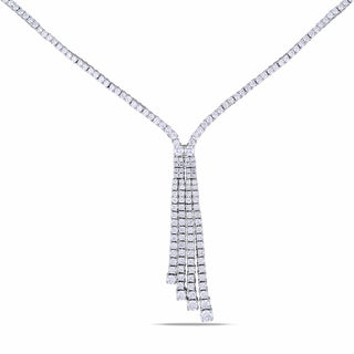 Miadora Signature Collection 14k White Gold 5 2/5ct TDW Diamond Necklace (G-H, SI1-SI2)