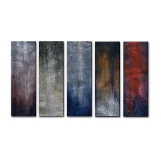 Skye Taylor '5 Days in Chicago' 5-piece Metal Wall Art Set