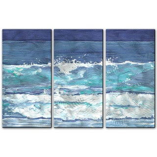 Keith Wilke 'Soothing Surf' 3-piece Metal Art Set
