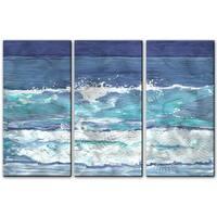 Keith Wilke 'Soothing Surf' 3-piece Metal Art Set