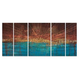 Hilary Winfield 'Electrical Charge' 5-piece Metal Wall Decor Set
