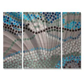 Hilary Winfield 'Mosaic' 3-piece Metal Wall Art Set