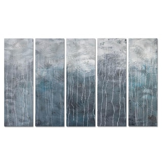 Hilary Winfield 'Lithosphere 48' 5-piece Metal Wall Decor Set