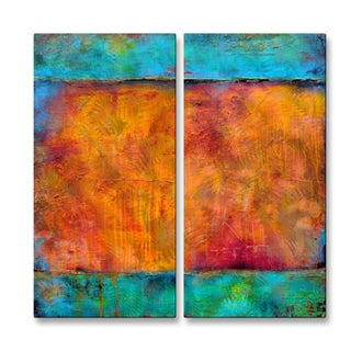 Erin Ashley 'Journeys Mood' 2-piece Metal Wall Sculpture Set