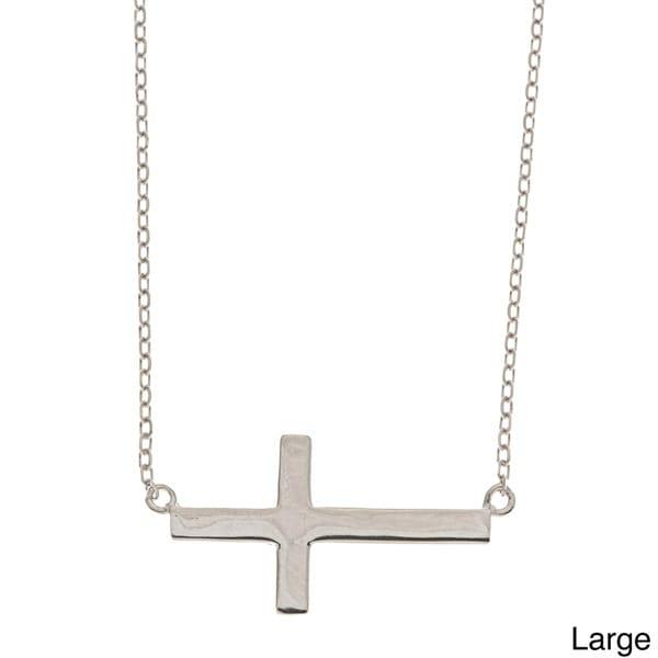 La Preciosa Children's Sterling Silver Cross Necklace