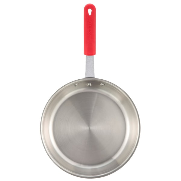 Shop Winco Apollo 12 Inch 3 Ply Fry Pan With Red Silicone