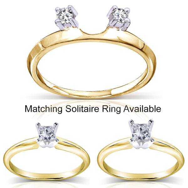 Annello 14k Gold 1/10 to 3/8 ct TDW Diamond Wrap or Solitaire Ring (H-I, I1-I2)