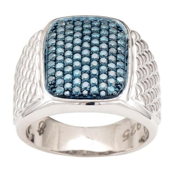 Blue Diamond Ring For Men