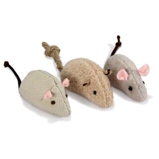 SmartyKat SkitterCritters Organic Catnip Mice (3 Pack)