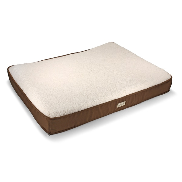 Shop Poochplanet Tendercare Therapeutic Foam Pet Bed Large Brown
