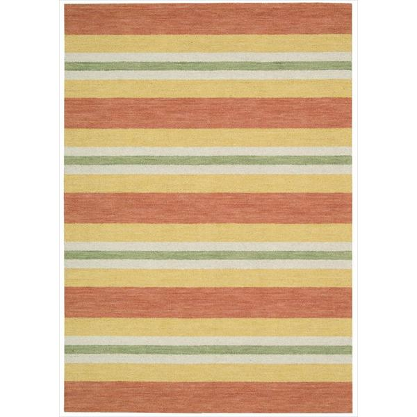 Barclay Butera Oxford Citrus Area Rug by Nourison - 5'3 x 7'5