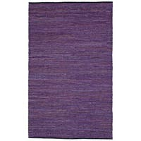 Hand-woven Matador Purple Leather Rug (10' x 14') - 10' x 14'