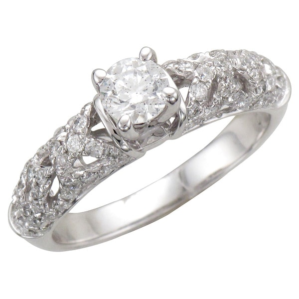 Unending Love 14k White Gold 1ct TDW Lace Collection Engagement ring (H-I, I1-I2)