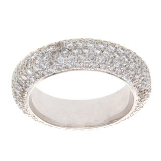 Victoria Kay 14k White Gold 2 2/5ct TDW Diamond Pave Band