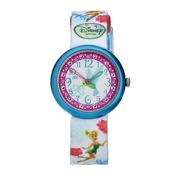 Swatch Kids White Dial Tinker Bell Theme Watch