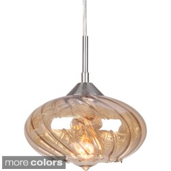 'Pulsar' Curved Glass 1-light Mini Swivel Point Pendant