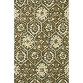Hand-hooked Tessa Brown Wool Rug (9'3 x 13')