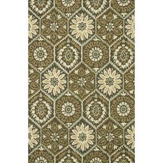 Hand-hooked Tessa Brown Wool Rug (9'3 x 13') - 9'3 x 13'